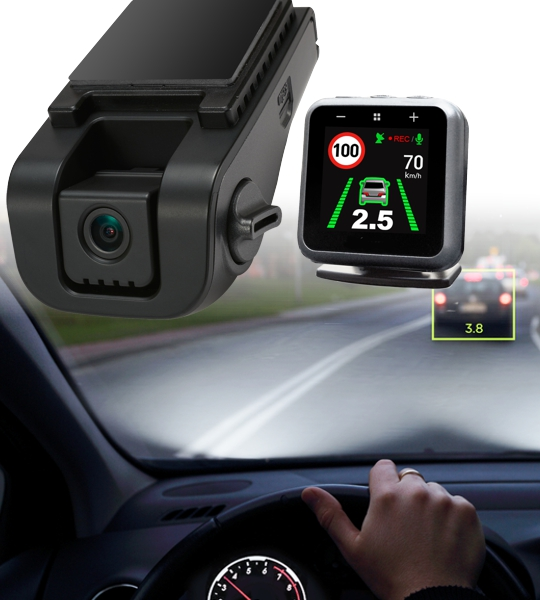 IntelliTrac Driver Assistance Cameras Frontal Collision Alert, Lane Departure Warning, Speed Limit Recognition